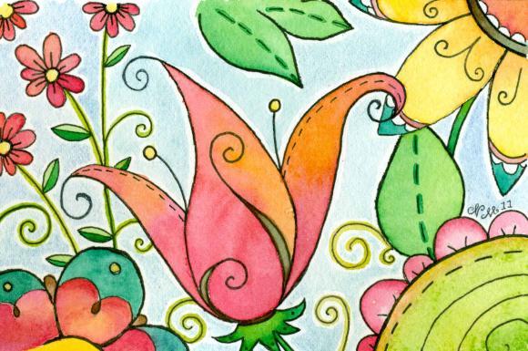 Tropical Punch Original Watercolor Painting
