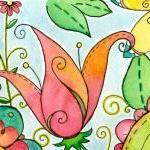 Tropical Punch Original Watercolor ..